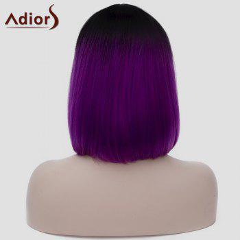 Harajuku Straight Capless Black Gradient Purple Synthetic Attractive Short Women's Cosplay Wig - BLACK/PURPLE