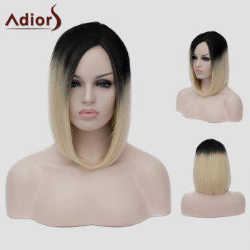 Lolita Black Gradient Light Blonde Vogue Short Straight Capless Women's Synthetic Cosplay Wig