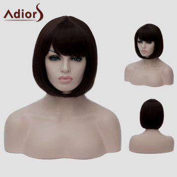 Bob Style Dark Brown Short Fashion Straight Women's Synthetic Wig