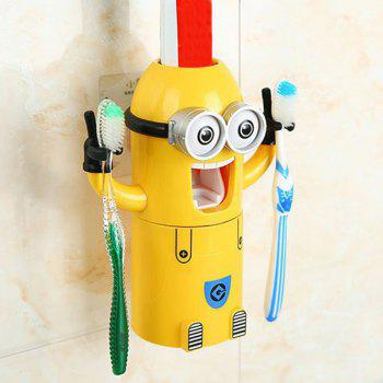 Fashionable Despicable Me Automatic Toothpaste Dispenser Minion Shape Toothbrush Toothpaste Holder - YELLOW YELLOW