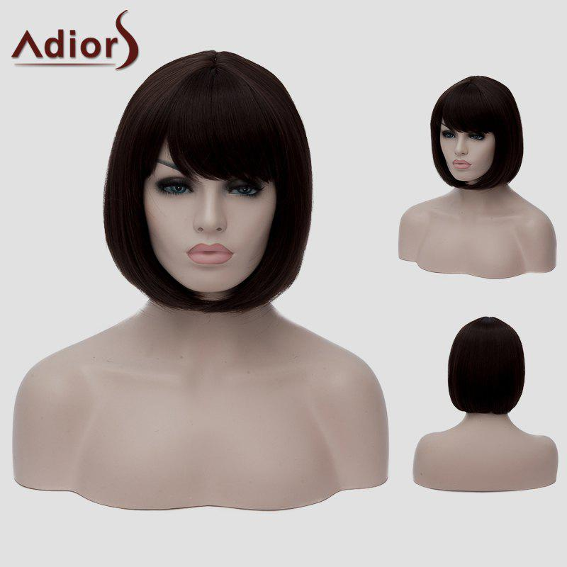 Bob Style Dark Brown Short Fashion Straight Women's Synthetic Wig - DEEP BROWN