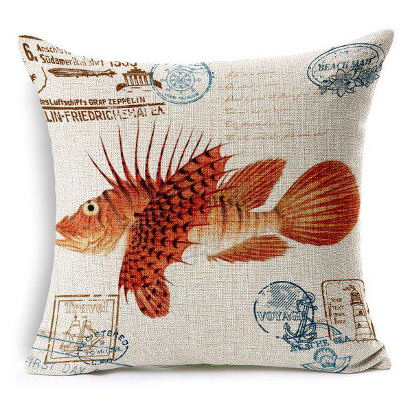 High Quality Colorful Tropical Fish Pattern Square Shape Pillow Case(Without Pillow Inner)