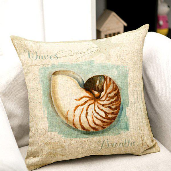 High Quality Marine Life Painting Pattern Square Shape Pillow Case(Without Pillow Inner) - COLORMIX
