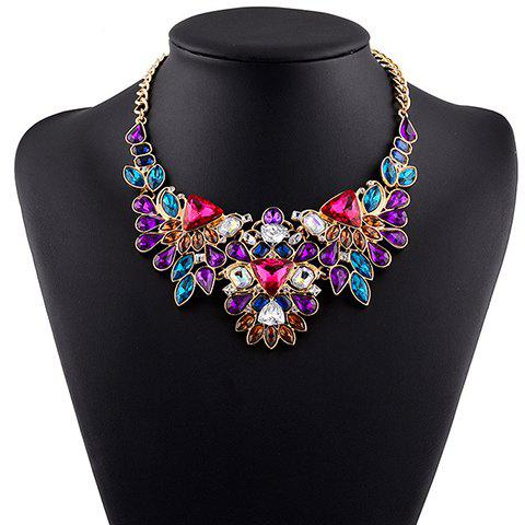 Graceful Faux Crystal Water Drop Geometric Necklace For Women