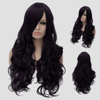 Fluffy Wave Atropurpureus Synthetic Gorgeous Long Side Bang Universal Women's Cosplay Wig