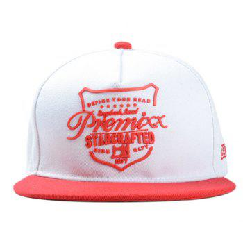 Chic Red Letter Shape Decorated Women's Baseball Cap - RED