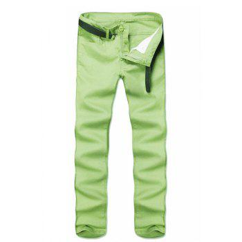 Simple Style Straight Leg Solid Color Zipper Fly Men's Pants