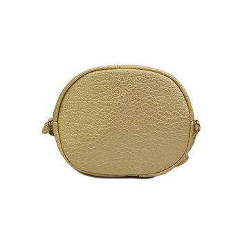 Trendy Chains and PU Leather Design Satchel For Women - GOLDEN