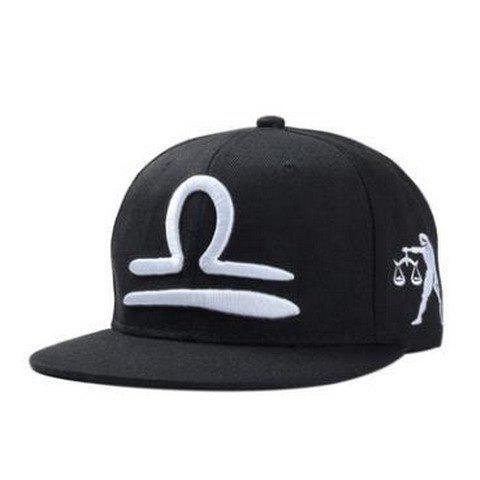Stylish Zodiac Libra Logo Shape Embroidery Men's Black Baseball Cap робот zodiac ov3400