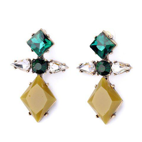 Pair of Delicate Faux Crystal Cross Shape Earrings For Women - COLORMIX