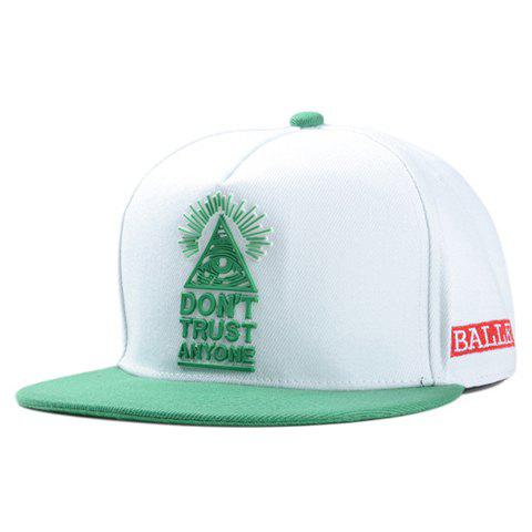 Chic Triangle and Letter Shape Embroidery Women's Baseball Cap - GREEN