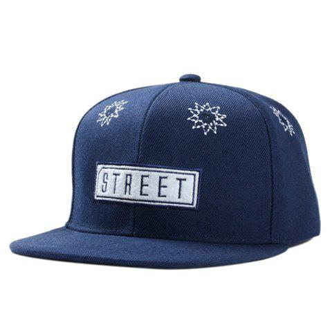 Stylish Geometry and Letter Shape Embroidery Men's Baseball Cap - CADETBLUE