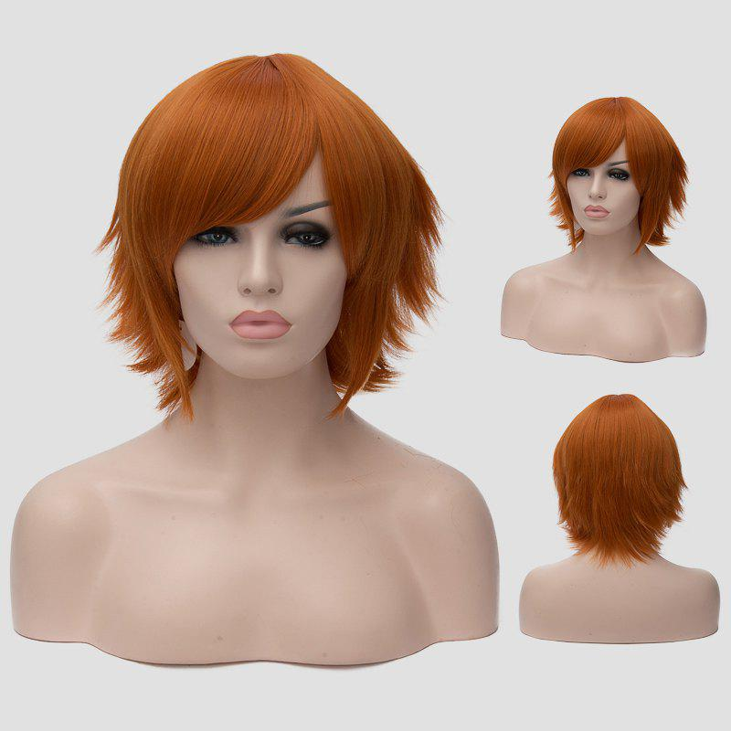 Spiffy Anti Alice Hair Synthetic Orange Short Straight Universal Cosplay Wig For Women - ORANGE