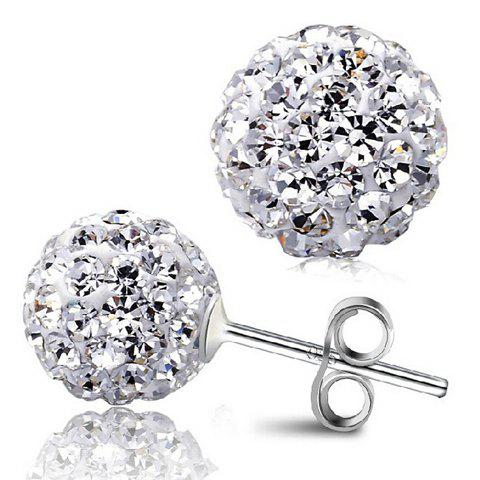Pair of Stunning Rhinestoned Ball Earrings For Women