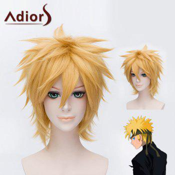Vogue Straight Anti Alice Hair Capless Short Gloden Synthetic Anime Cosplay Wig