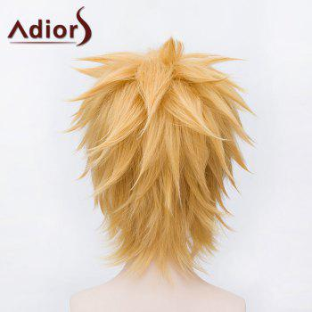 Vogue Straight Anti Alice Hair Capless Short Gloden Synthetic Anime Cosplay Wig - GOLDEN