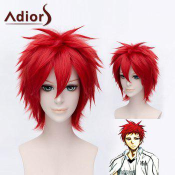 Stylish Red Short Capless Straight Anti Alice Hair Synthetic Kozato Enma Cosplay Wig