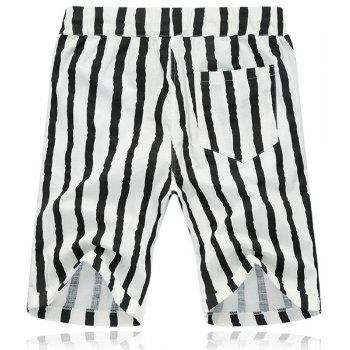 Lace Up Loose Stripe Fifth Pants Beach Shorts For Men - 2XL 2XL