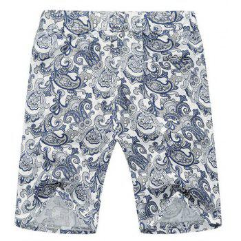 Lace Up Loose Printed Fifth Pants Beach Shorts For Men - 2XL 2XL