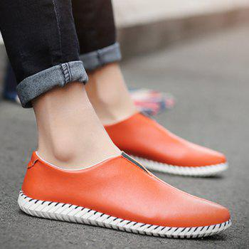 Faux Leather Slip On Sneakers - 40 40