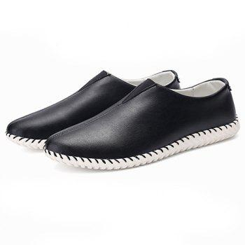 Faux Leather Slip On Sneakers - 44 44