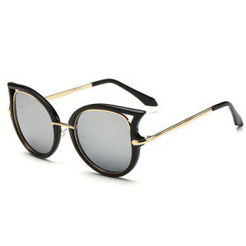 Chic Hollow Out Cat Eye Shape Black Frame Women's Sunglasses