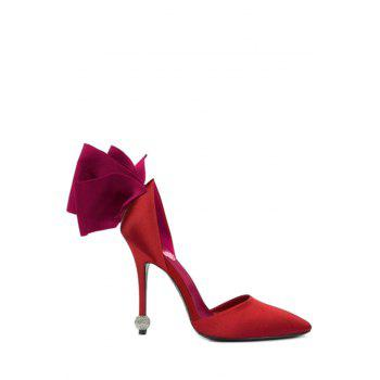 Party Bow and Two-Piece Design Pumps For Women