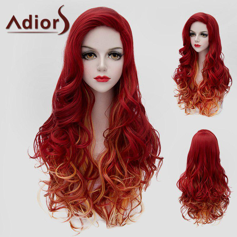 Fluffy Wavy Synthetic Charming Jacinth Ombre Orange Long Wig For WomenHair<br><br><br>Color: OMBRE 1211#