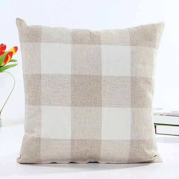 High Quality Classical Plaid Pattern Square Shape Linen Pillow Case(Without Pillow Inner) - COLORMIX