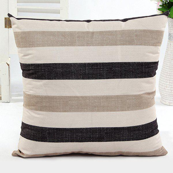High Quality Square Shape Stripe Pattern Pillow Case(Without Pillow Inner)