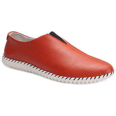 Simple PU Leather and Slip-On Design Leather Shoes For Men