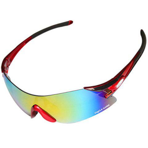 High Quality Outdoor Sports Cycling Equipment Colorful Anti-UV Rimless  Sunglasses - RED BLACK df31ee155
