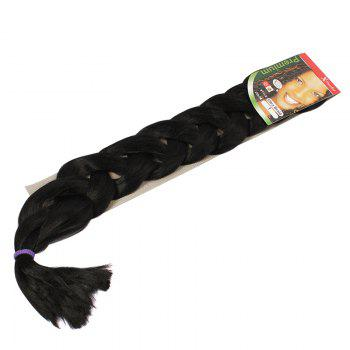 Fashion African Style Assorted Color Long Synthetic Braided Hair Extension For Women