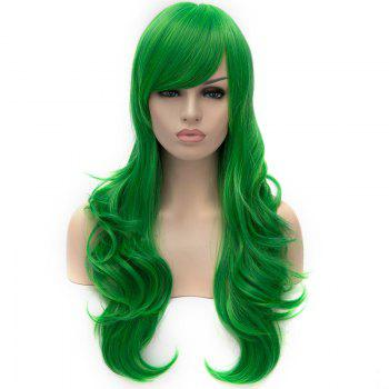 Vogue Lolita Green Long layered Shaggy Wavy Synthetic Women's Party Wig - GREEN