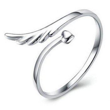 Wing Heart Cuff Ring