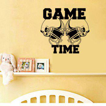 High Quality Black Letter Pattern Removeable Wall Stickers - BLACK