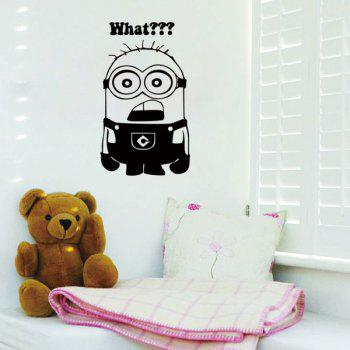 High Quality Black Minion Pattern Removeable Wall Stickers - BLACK