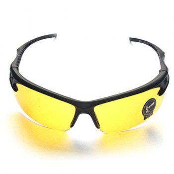 High Quality Outdoor Sports Cycling Equipment Mountain Biking Plastic Sunglasses -  YELLOW