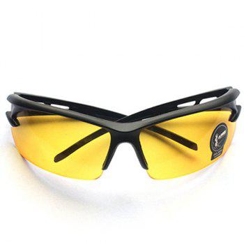 High Quality Outdoor Sports Cycling Equipment Mountain Biking Plastic Sunglasses - YELLOW YELLOW