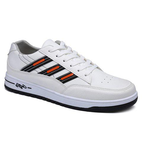 Simple Color Matching and Lace-Up Design Casual Shoes For Men - ORANGE 43