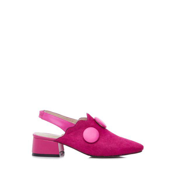 Trendy Button and Slingback Design Pumps For Women