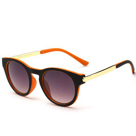 Chic Black and Orange Splicing Frame Women's Sunglasses