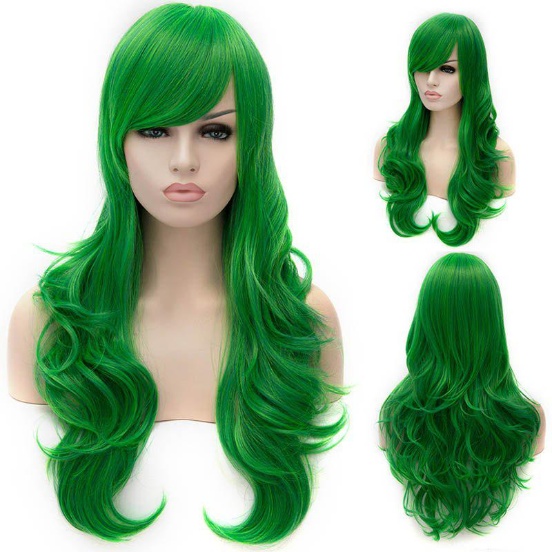 Vogue Lolita Green Long layered Shaggy Wavy Synthetic Womens Party WigHair<br><br><br>Color: GREEN