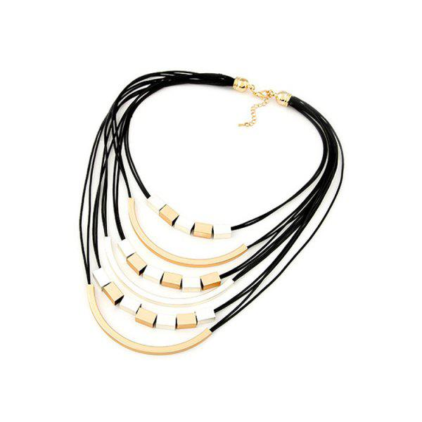Punk Metal Decorated Multi-Layered Necklace For Women