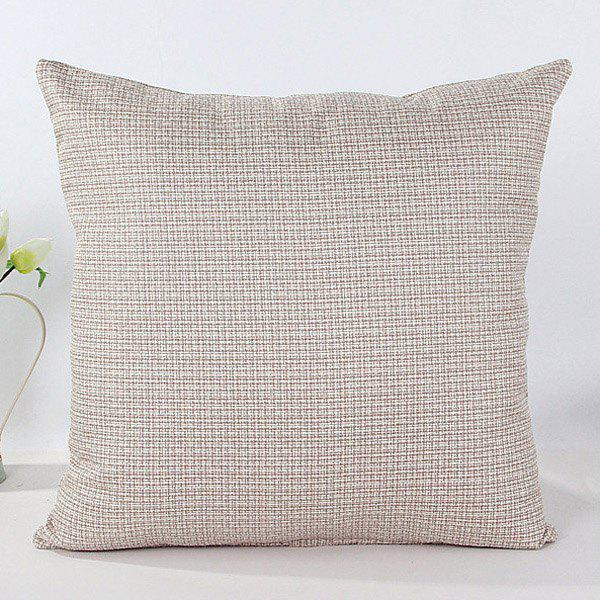 High Quality Solid Color Square Shape Flax Pillow Case(Without Pillow Inner) -  GRAY