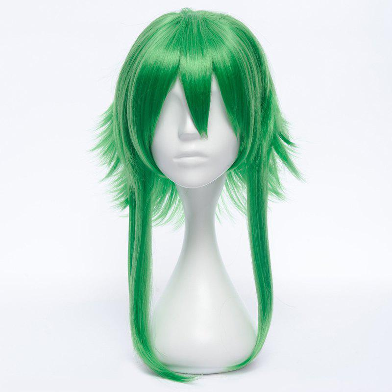 Stunning GUMI Medium Fluffy Straight Anti Alice Hair Green Costume Play Wig - GREEN