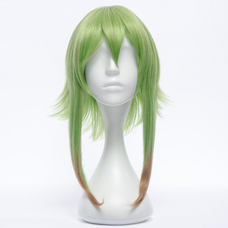 Fluffy Straight Anti Alice Hair Synthetic Fashion Lawn Green Ombre Medium GUMI Costume Play Wig - OMBRE 1211