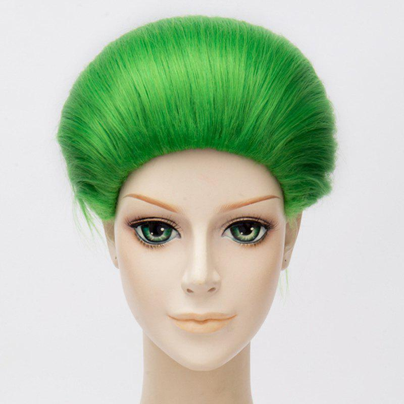 Fashion Green Synthetic Short Capless Straight Suicide Squad Joker Cosplay Wig - GREEN
