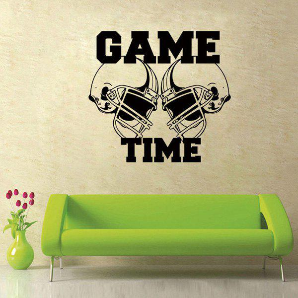 High Quality Black Letter Pattern Removeable Wall Stickers