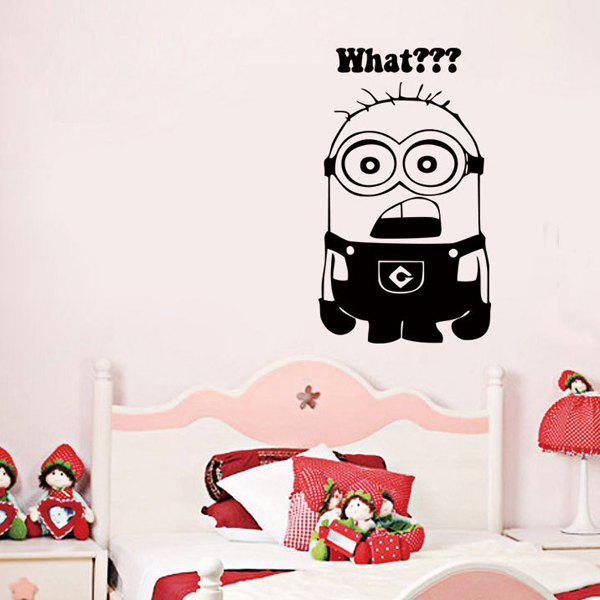 High Quality Black Minion Pattern Removeable Wall Stickers